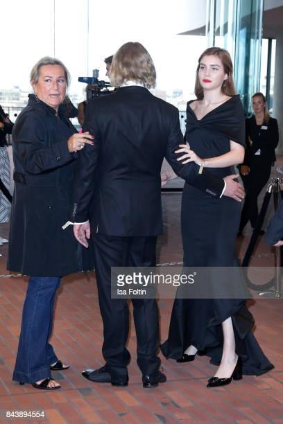 business man Frank Otto and his girlfriend model Nathalie Volk attend the 'Deutscher Radiopreis' at Elbphilharmonie on September 7 2017 in Hamburg...