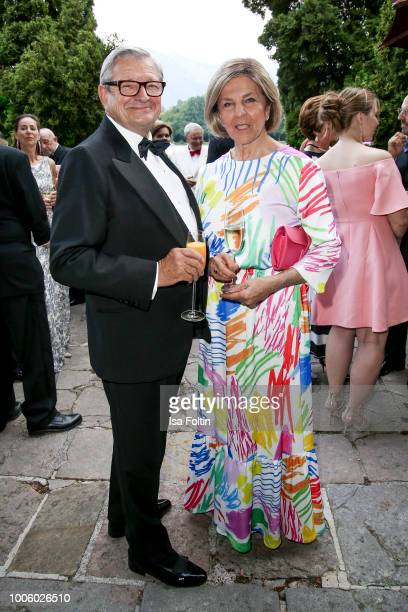 Business man Heinrich Spaengler and his wife Eva Spaengler during the ISA gala at Schloss Leopoldskron on July 26 2018 in Salzburg Austria