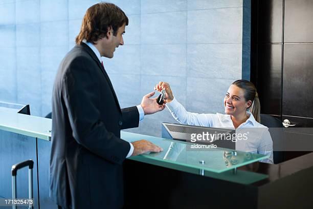 Geschäftsmann in der lobby