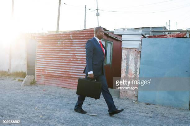 Hombre en un traje de negocios
