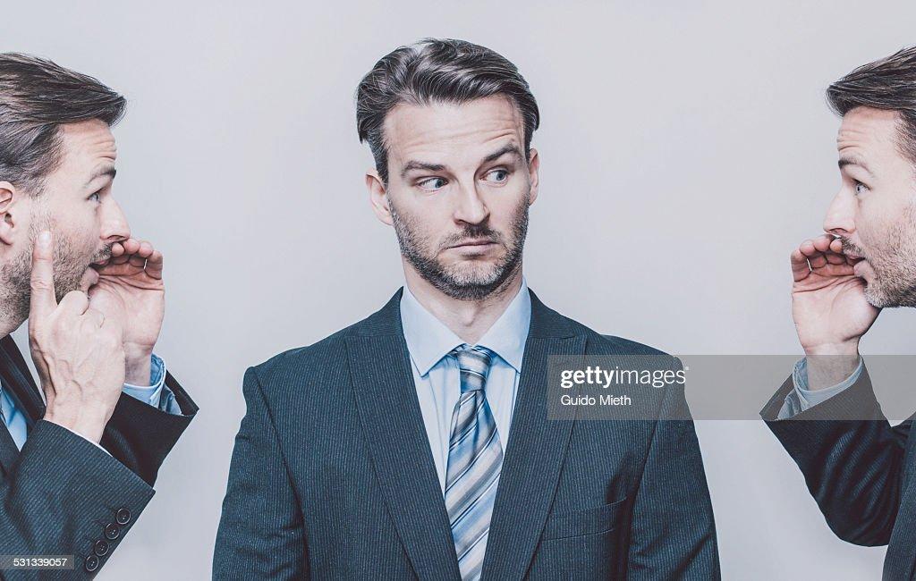 Business man in disbelief. : Foto de stock