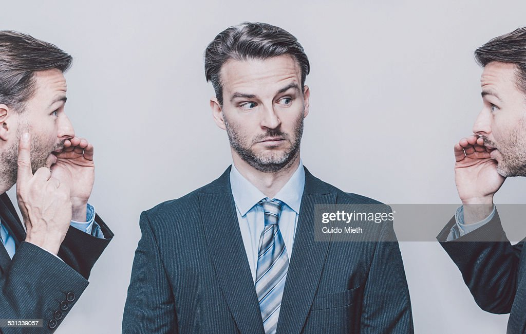 Business man in disbelief. : Stock Photo