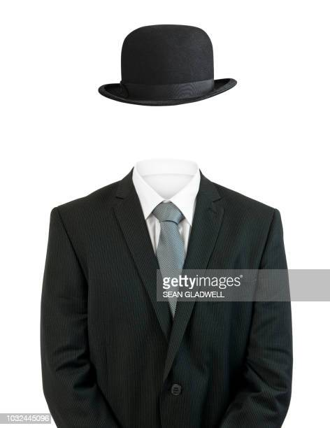 business man invisible - cappello foto e immagini stock