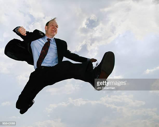 Business man  Jumpimg
