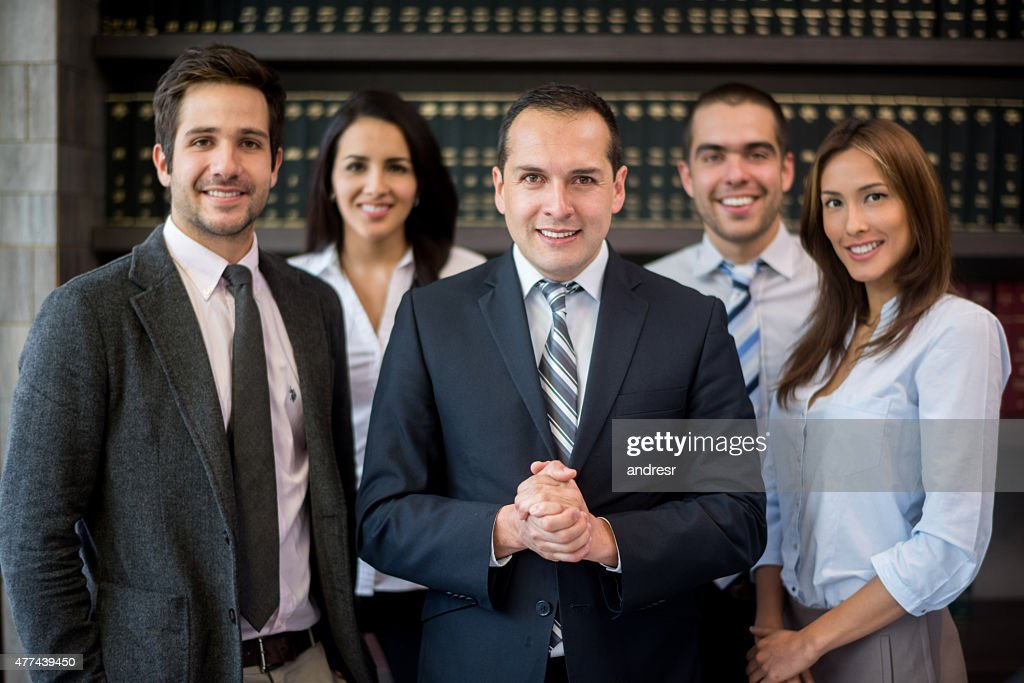 Business man leading a group : Stock Photo
