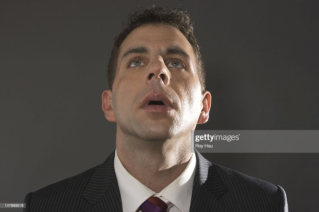 In Owe business looking up in awe stock photo getty images