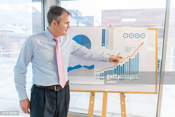 Business man making a presentation