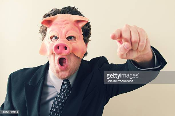 business man pig boss - ugly pig stock pictures, royalty-free photos & images