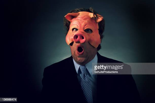 Business Man Pig Mask