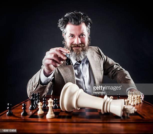 Business Man Playing Chess