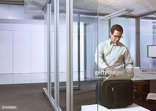 Business man preparing for travel