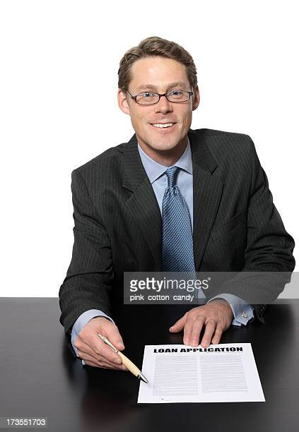 business man ready for you to sign - short hair stock pictures, royalty-free photos & images