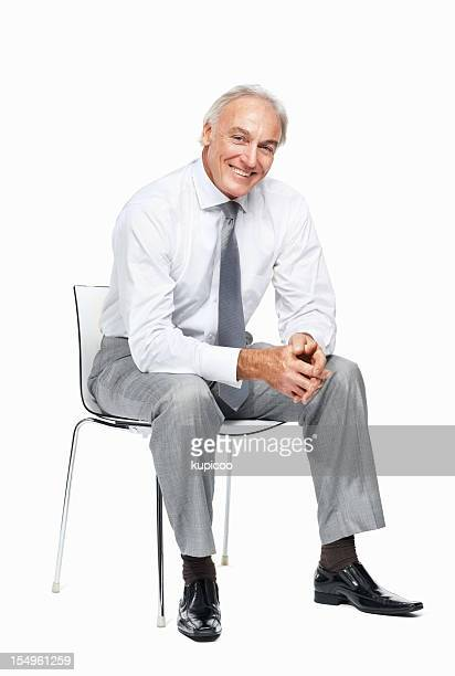 Business man relaxing on chair