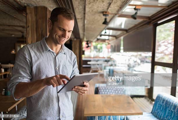 Business man running a restaurant