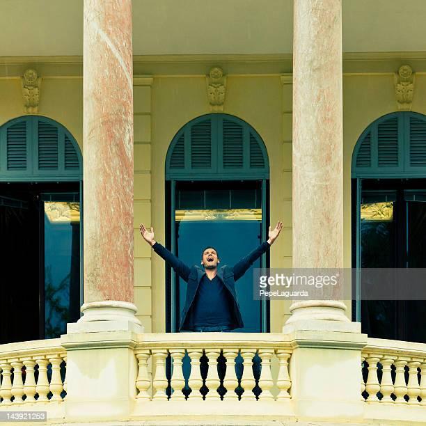 homem de negócios a gritar no joy - em êxtase - fotografias e filmes do acervo