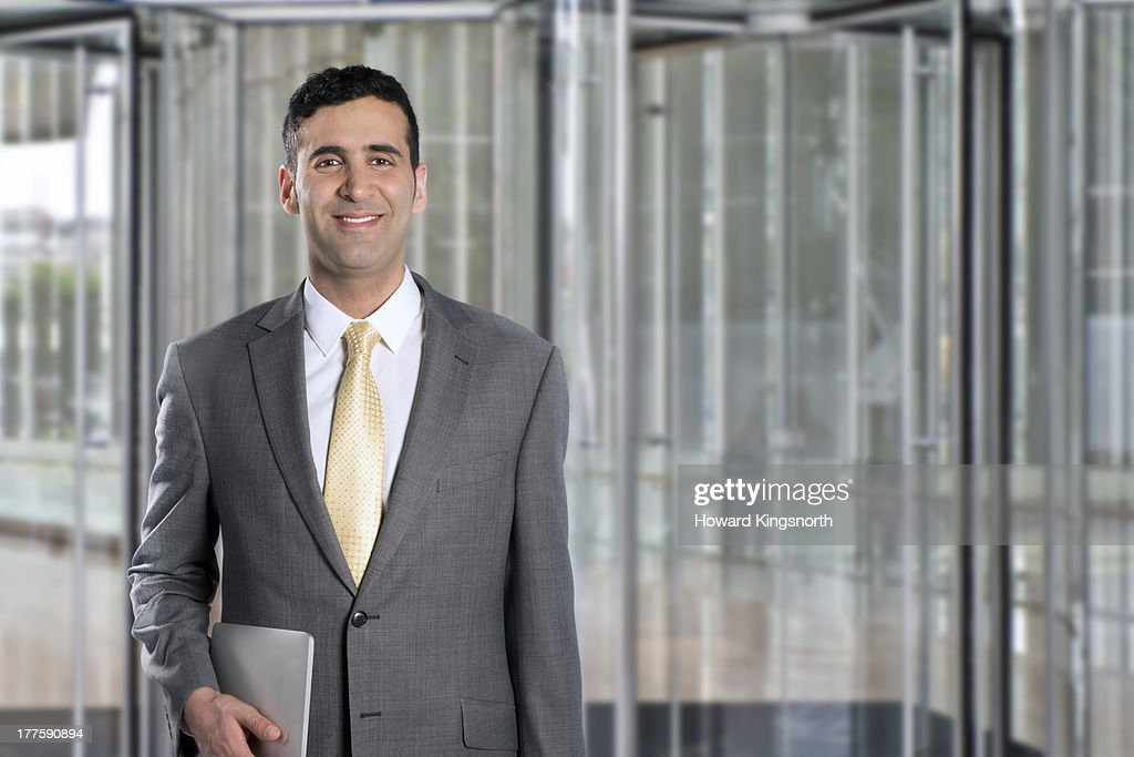 business man smiling to camera : Stock-Foto
