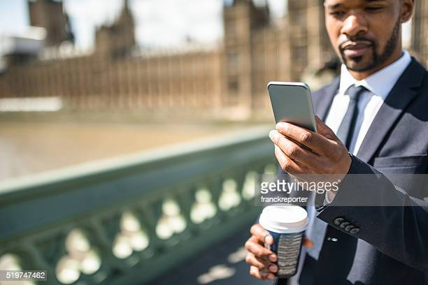 Business man take a selfie at on the big ben