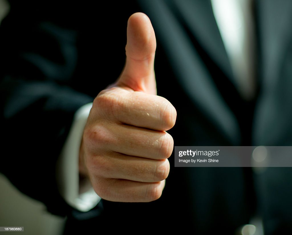 Business man thumb up : Stock Photo