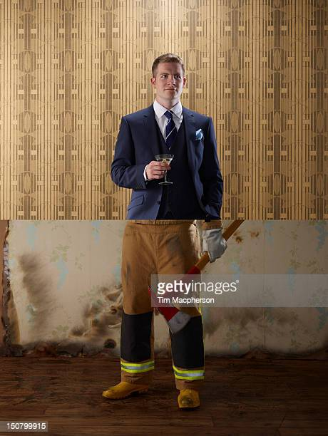 Business man top, foreman bottom