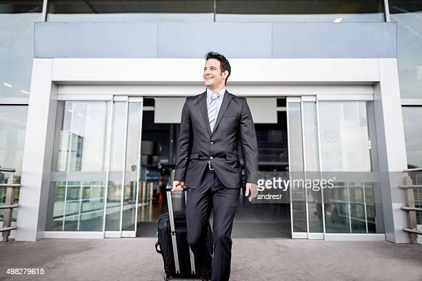 Uomo d'affari in viaggio
