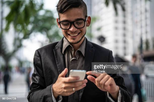 Business man using mobile