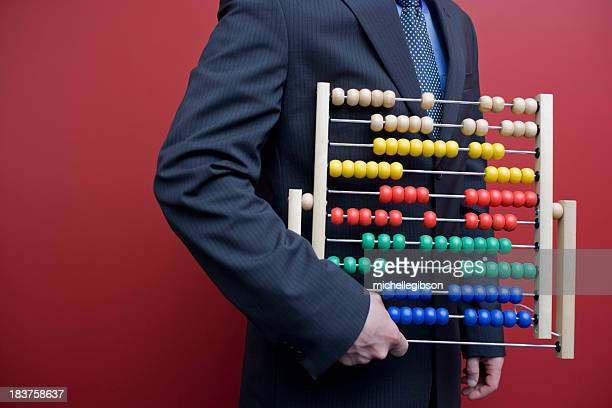 Business man with an abacus