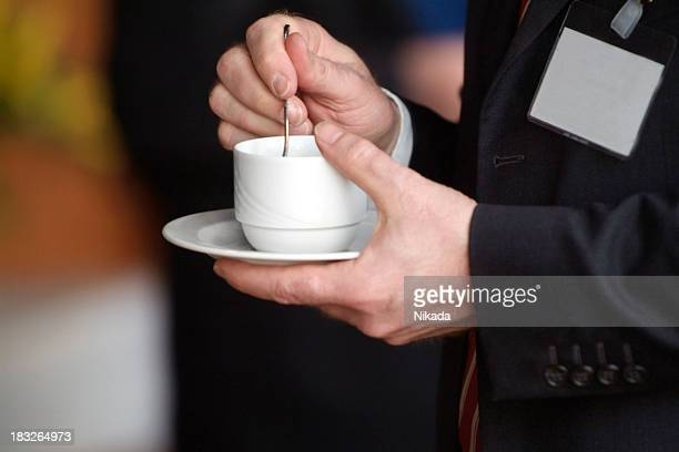 business man with coffee