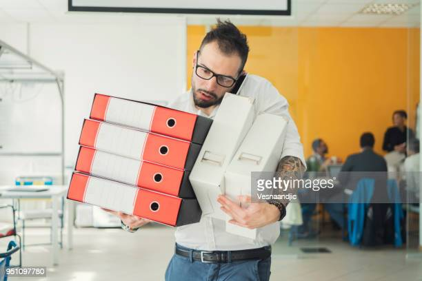 business man working at office, full of work - excess stock photos and pictures