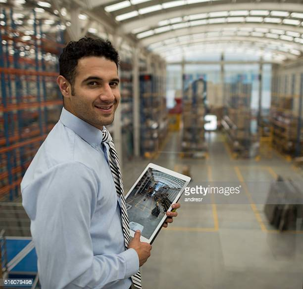 Business man working on freight transportation