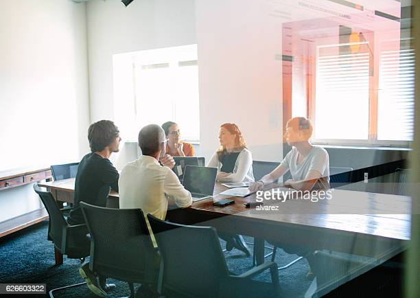 Business meeting at a modern office
