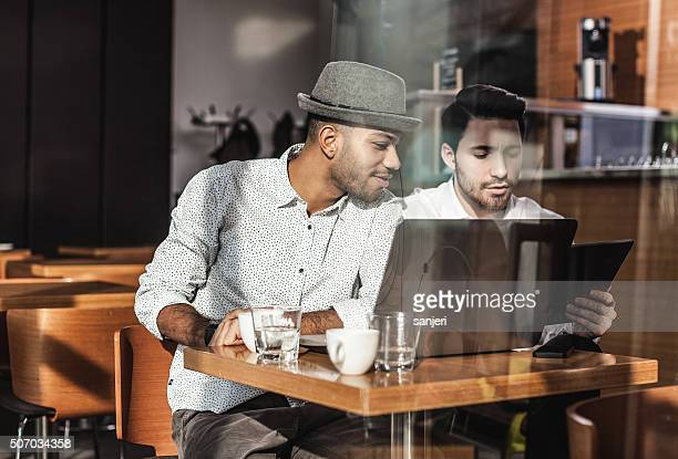 Business meeting at the coffee bar