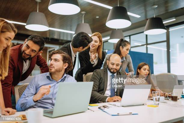 business meeting - celebrating good stock exchange transaction and successful ipo - initial public offering stock pictures, royalty-free photos & images