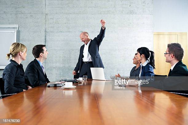 Business Meeting Cheering Manager