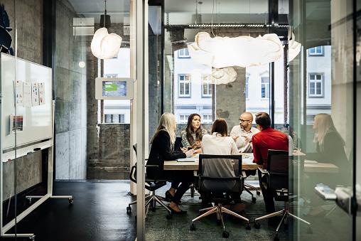 Business meeting in a modern office. - gettyimageskorea
