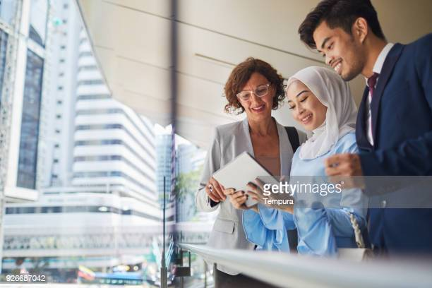 business meeting in kuala lumpur. - malaysia stock pictures, royalty-free photos & images