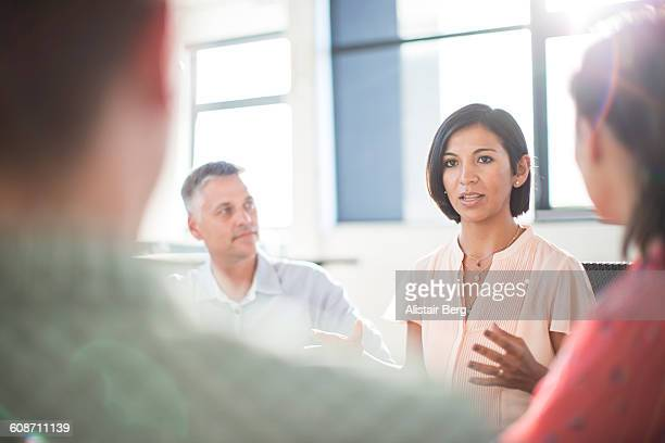 Business meeting in open office