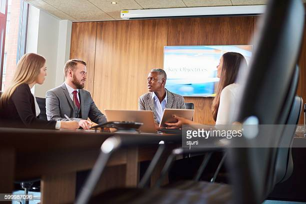 business meeting in the boardroom