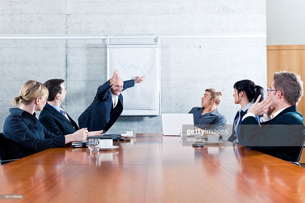 Business Meeting - Manager Freaking Out : Stock Photo