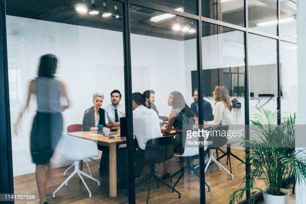 business meeting - staff meeting stock pictures, royalty-free photos & images