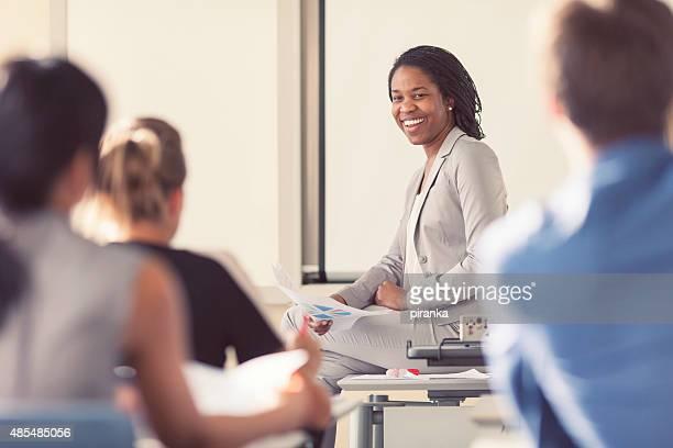 business meeting - professor stockfoto's en -beelden