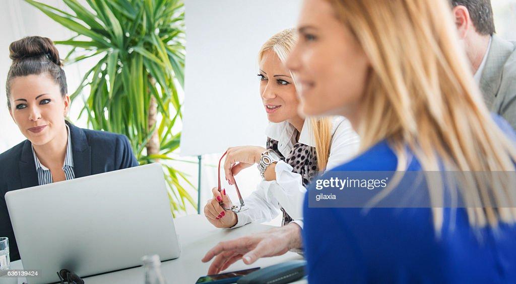 Reunião de negócios.   : Foto de stock