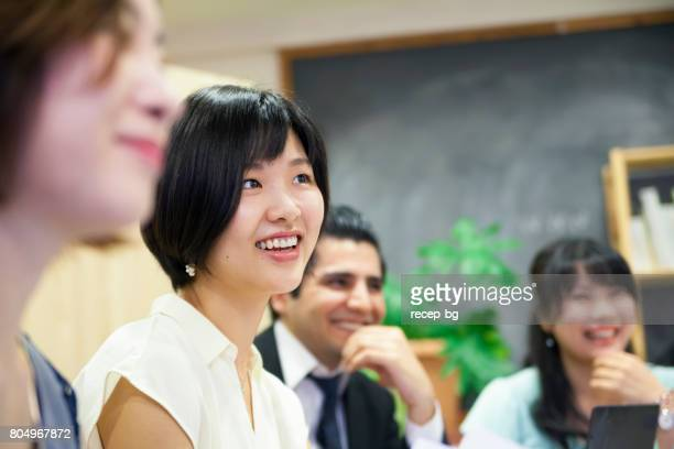 business meeting - korean ethnicity stock pictures, royalty-free photos & images