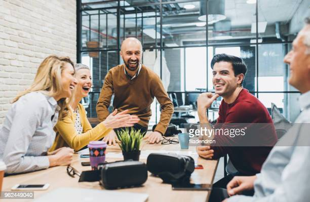 business meeting - happiness stock pictures, royalty-free photos & images