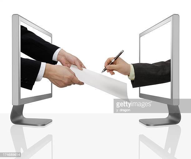 Business Männer Unterschreiben