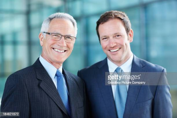 Business men smiling
