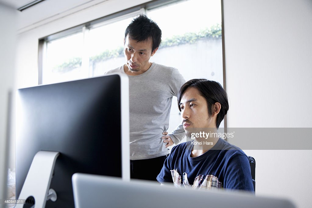 business men working at office : ストックフォト