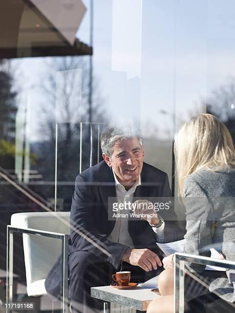 Business Metting in Restaurant