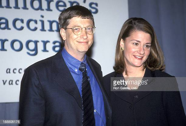 Business mogul Bill Gates and wife Melinda Gates donate $100 Million Dollar Check to the Program for Appropriate Technology in Health on December 2...