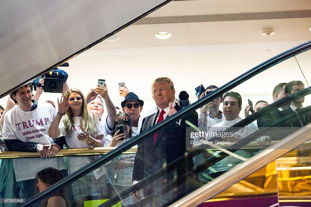 Donald Trump Makes Announcement At Trump Tower : Fotografia de notícias