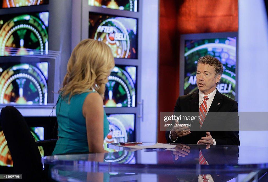 Business Network's Melissa Francis interviews Senator Rand Paul at FOX Studios on October 23, 2015 in New York City.